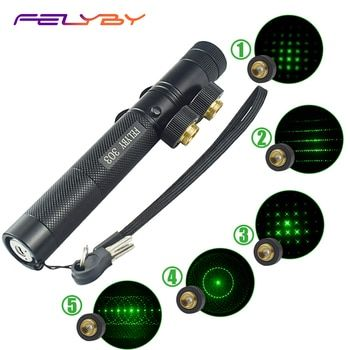 FELYBY 303 лазерная указка ручка 532nm зеленый лазерный видеоискатель для офиса/обучения/встречи лазерная указка с перезаряжаемые 18650 батарея