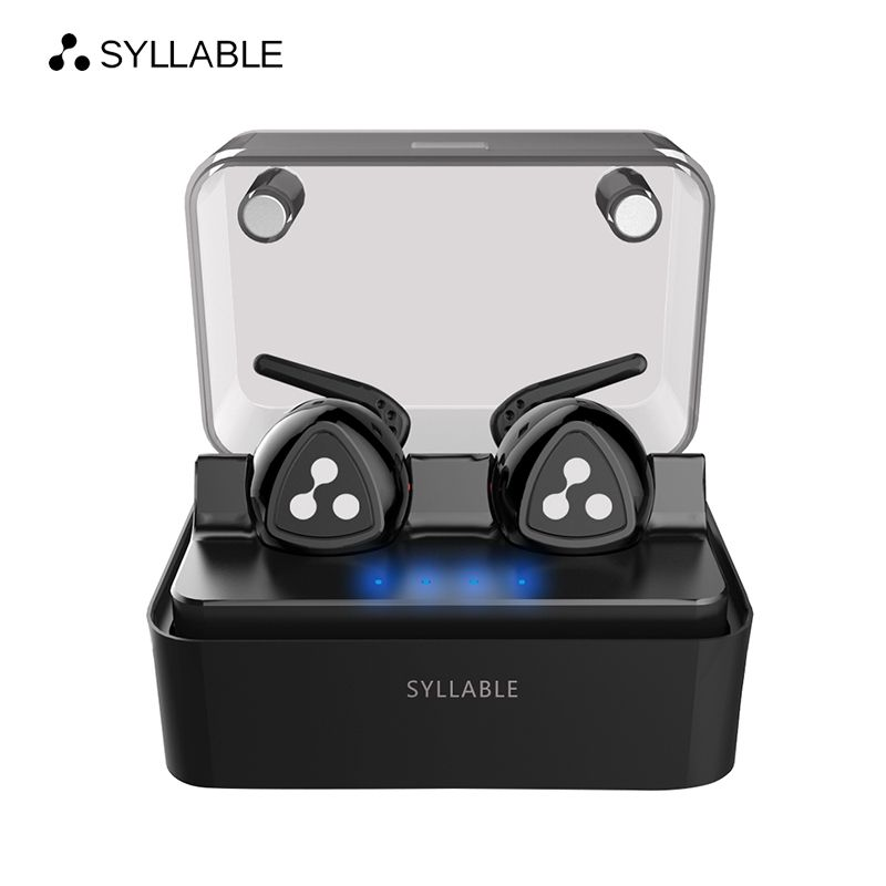 SYLLABLE D900MINI bluetooth 4.1 earphone <font><b>noise</b></font> reduction bluetooth headset for mobile phone wireless sports bass earphone