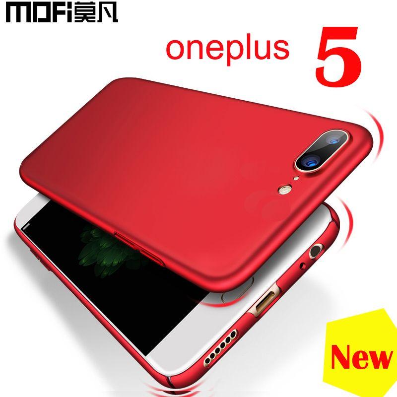 Oneplus 5 housse coque originale Mofi protection complète rouge one plus 5 étuis uni ou motif ajusté dur Oneplus 5 étui