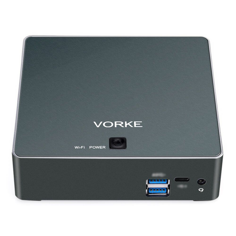 VORKE V2 Plus Ubuntu für Intel Skylake I7-7500U 8 GB 256 GB Mini PC SSD IEEE 802,11 ac WIFI Gigabit LAN HDMI USB 3.1 TV Box