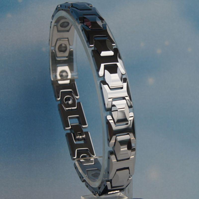 11 MM largeur Hommes magnétique classique lourd salut-technologie anti-rayures de tungstène bracelet