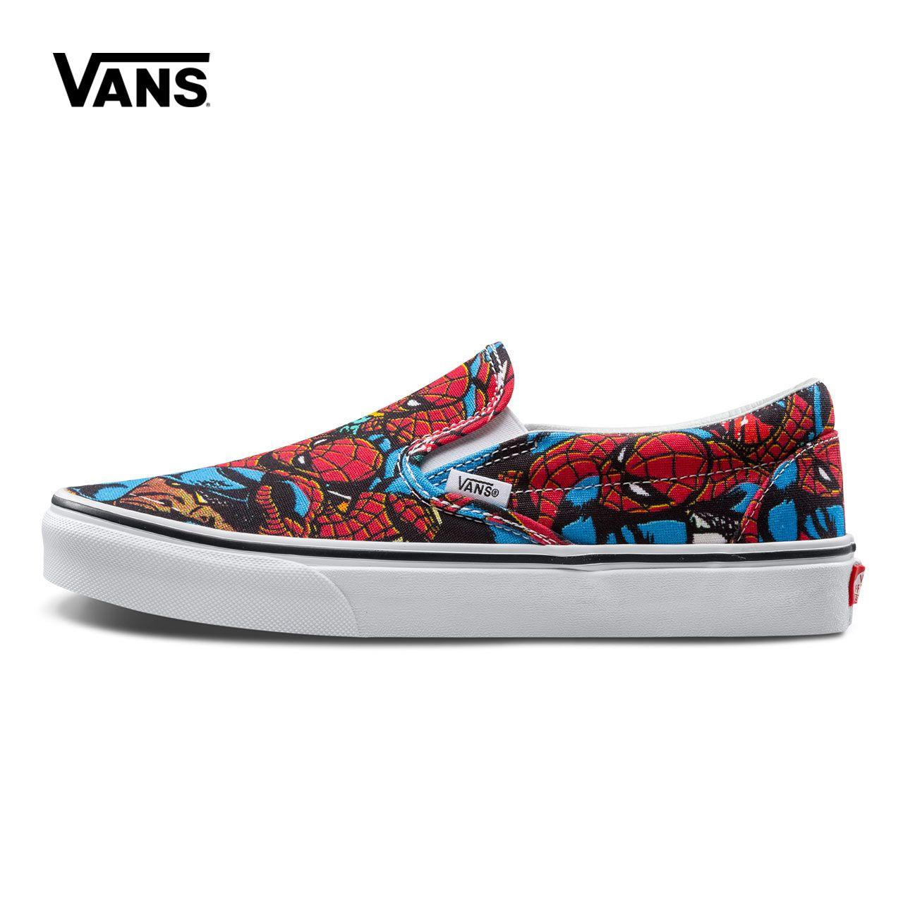 Original New Arrival Vans X Marvel Men's & Women's Classic Slip-On Low-top Skateboarding Shoes Sneakers Canvas VN0A38F79H7