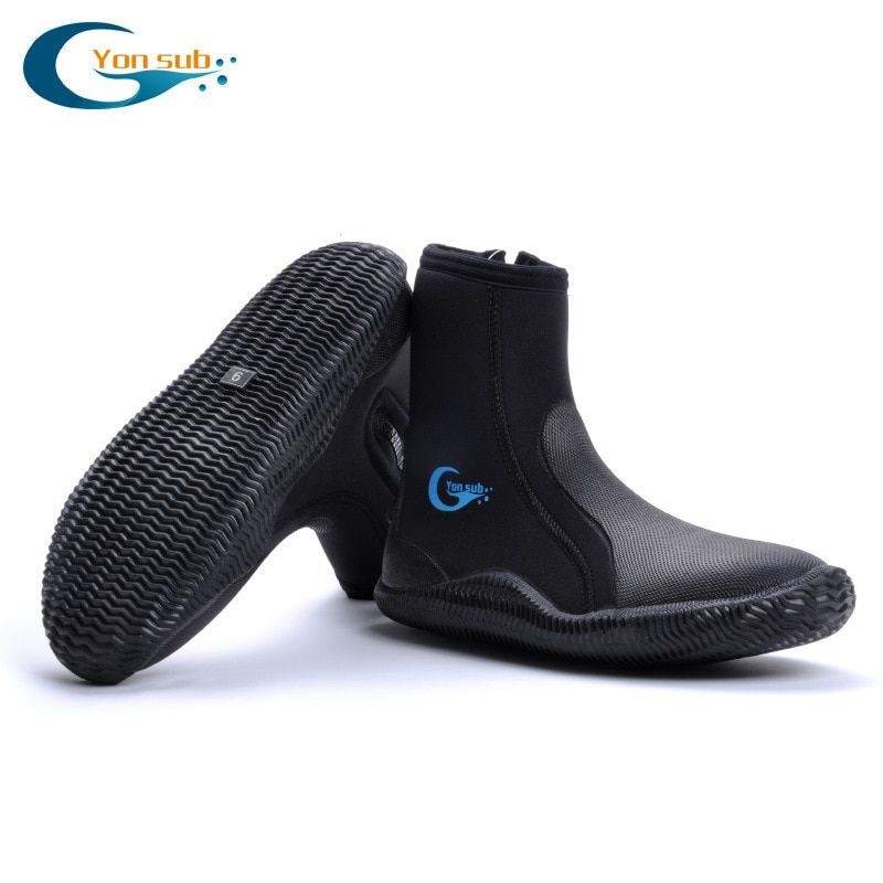 high quality 5MM SCR Neoprene shoes scuba diving boots Anti slip Skid Keep warm shoes Beach sock Fishing Winter swim Fins