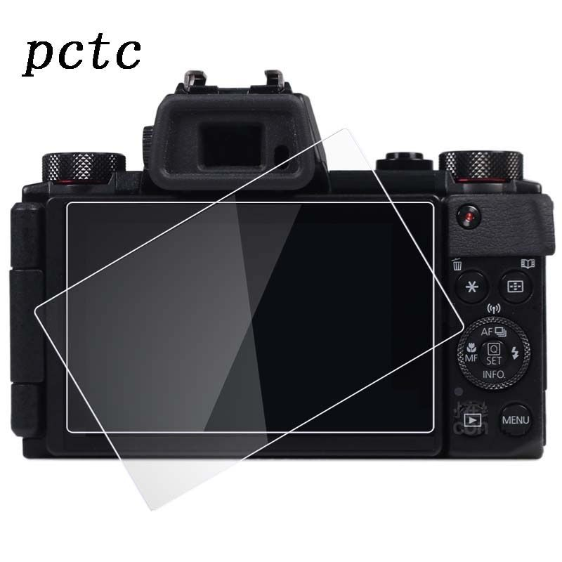PCTC 2pcs 0.3mm For Canon G5X HD anti scratch fingerprint toughened glass screen protective film