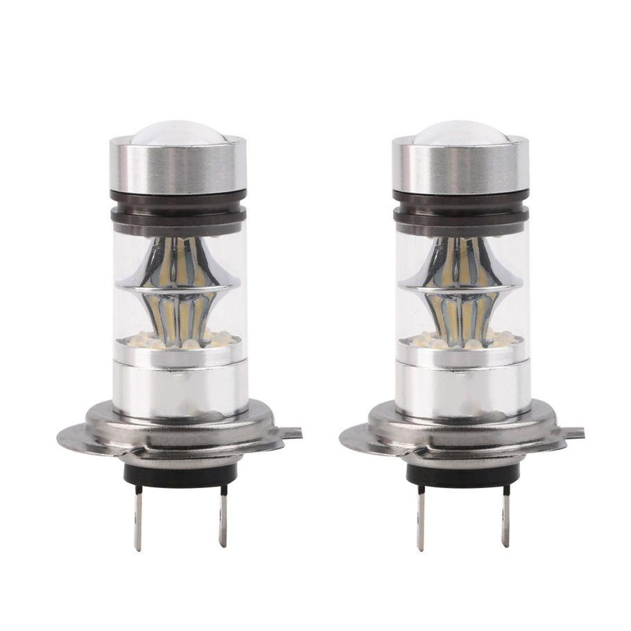 2 шт. H7 100 Вт высокое Мощность COB LED авто фар DRL Туман дальнего света лампы 20 SMD Проекторные лампы HID 6000 К 12 В Тюнинг автомобилей