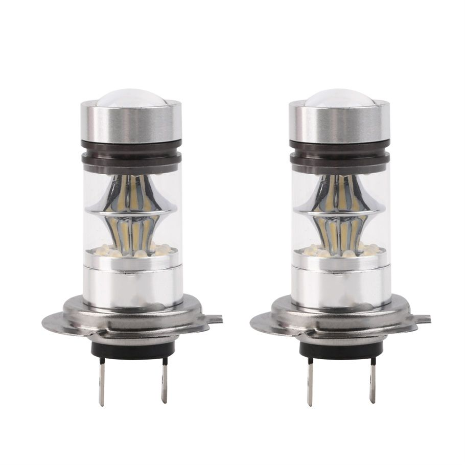 2Pcs H7 100W High Power COB LED Auto Car Headlight DRL Fog Driving Light lamp 20 SMD Projector  Bulbs HID 6000K 12v car styling
