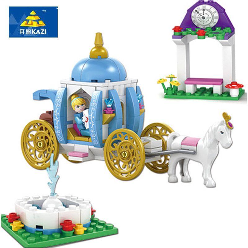 KAZI nouveau modèle d'assemblage de blocs bloque la série Dream Girl de cendrillon Compatible avec les principaux blocs de construction de marque jouets pour enfants