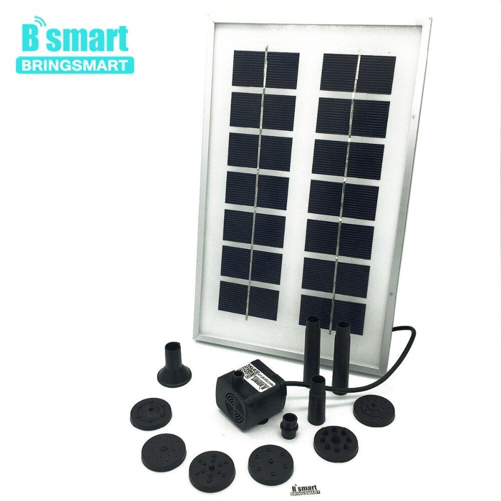 JT-180-3W 12V DC Brushless Solar Water Pond Fountain Pump Kit 300L/H 150CM Submersible Pump With Solar Panel