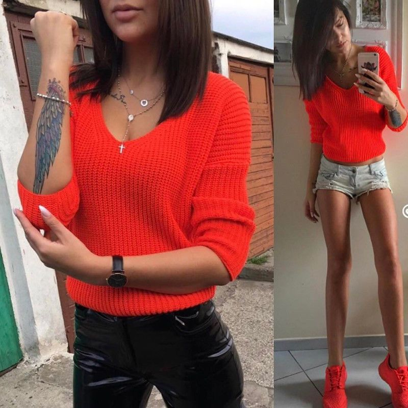 Women Ladies Long Sleeve Knitted Sweater Tops Loose Cardigan Outwear Coat Oversized Red Green Brown Autumn Winter Sweaters