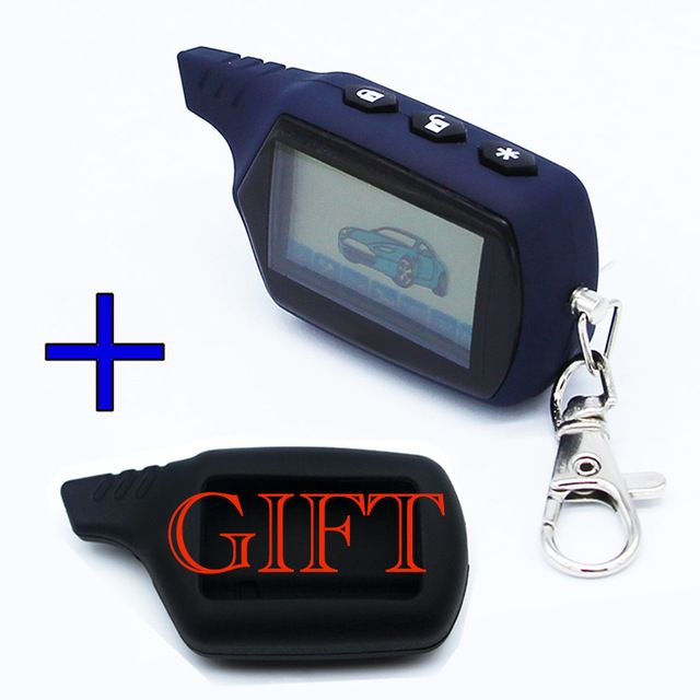 A91 Keychain Remote Control Key Fob For Russian Vehicle Security Starline A91 Engine Starter Car Anti-theft Alarm System
