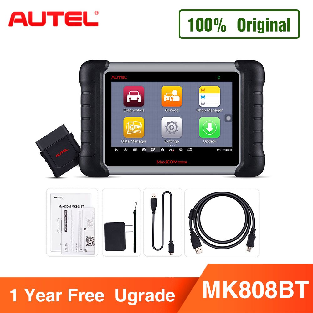 Autel MaxiCOM MK808BT OBD2 Scanner Diagnose Werkzeug, mit MaxiVCI Unterstützt Volle System Diagnose Verbesserte Version von MK808