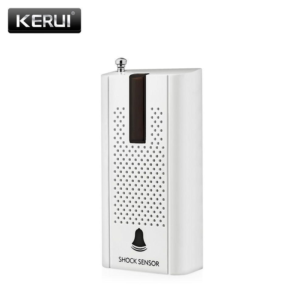 KERUI ZD30 Inalámbrico Puerta Ventana Detector de la Vibración Shock Sensor de Alarma Para la Seguridad Casera del Ladrón Sistema de Alarma con la Antena