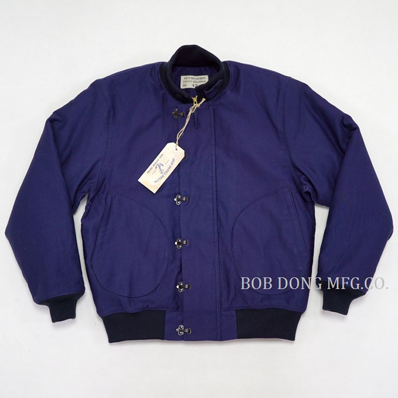 BOB DONG Frühen Zeit USN Vorne Haken Deck Jacke Winter Herren Warm Military Uniform