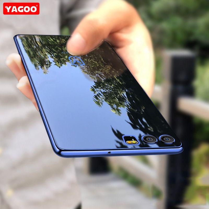Pour Huawei Honor 9 cas de couverture de silicium tansparent tpu de luxe antichoc capa d'origine Yagoo pour Huawei Honor V9 cas doux fundas