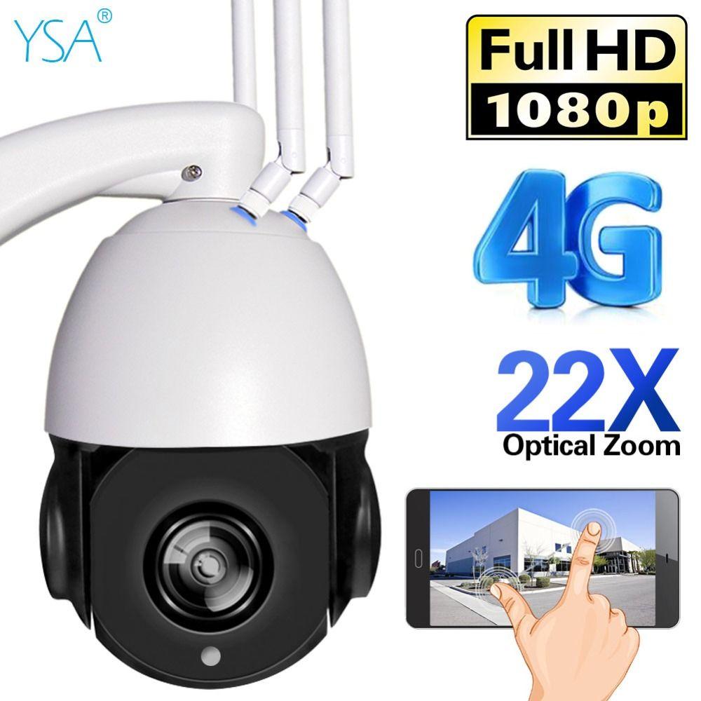 YSA 1080P HD Wireless PTZ IP Camera Wifi 3G 4G SIM SD Card Dome CCTV Camera Outdoor 22X Optical Zoom Night Vision IR 150M Cam