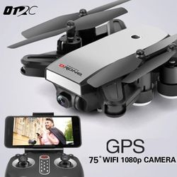 OTPRO RC Dron X28W Mini Foldable Selfie Drone with Wifi FPV 0.3MP or 2MP Camera GPS Altitude Hold Quadcopter VS X16 X4 XS809