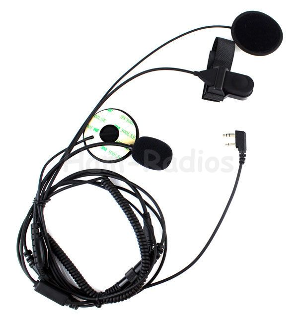 Motorcycle Helmet Headset Microphone for ICOM IC-F21 IC-F26 IC-IV8 IC-F3S Radios with Finger PTT New