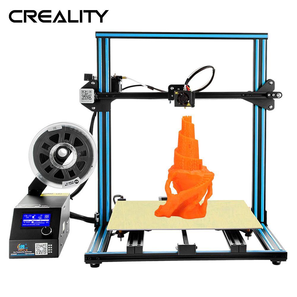 Große Druck Größe CREALITY 3D Drucker CR-10 S4/S5 Mit Dua Z Stange Filament Sensor Lebenslauf Drucker Power off