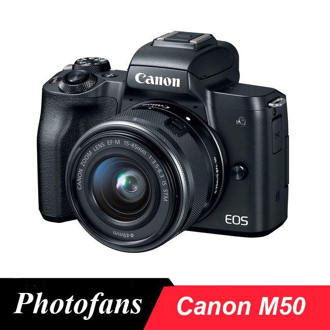Canon M50 Spiegellose Kamera mit EF-M 15-45mm f/3,5-6,3 IST STM Objektiv, schwarz-24.1MP APS-C-4 K-Vari-Winkel Touchscreen-Wifi