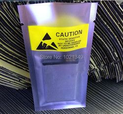Intergrity 300 Pcs/lot 7*11 Cm Komponen Elektronik Baterai Anti-Static Plastik Kemasan Kantong Open Top Plastik Tas