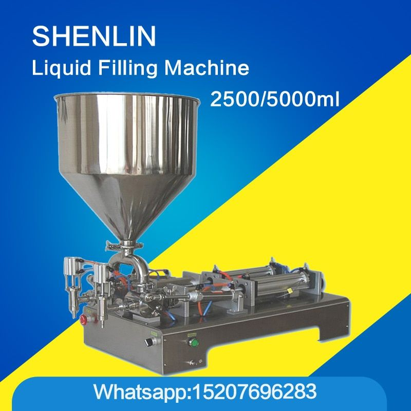 Cooking oil filling machine bottling filler large volume food grade packaging equipment tool double nozzle 5000ml crack filler