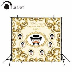 Allenjoy new arrivals photo backdrops Golden carving decorative frame custom birthday backdrop photocall photo printed no stand