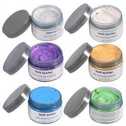 MOFAJANG 120g Hair Styling Waxs Promades Silver Ash Grey Strong Hold Temporary Hair Dye Wax Gel Mud Easy Wash Hair Coloring Wax
