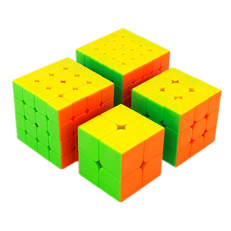 Moyu MofangJiaoshi 2x2 3x3 4x4 5x5 Competition Magic Cube Set 4pcs Cubing Classroom Speed Cubes Puzzles Toys For Children