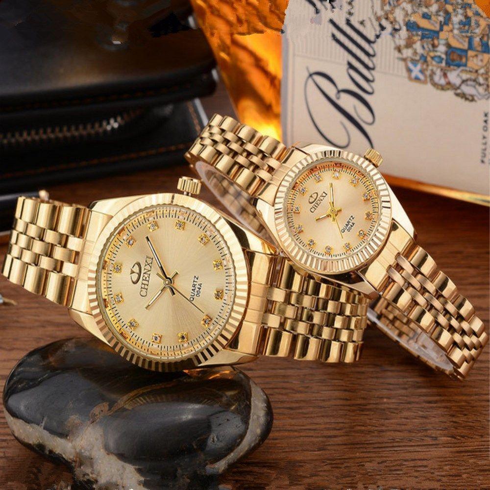 CHENXI Goldene Neue Uhr gold Mode Frauen Uhr voll gold Edelstahl Quarz Uhren Großhandel Frauen Gold uhr PENGNATATE