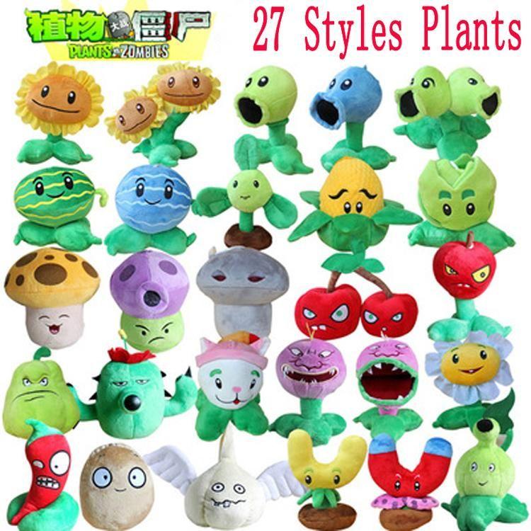 27 Styles plantes vs Zombies jouets en peluche 13-20 cm plantes vs Zombies doux peluche jouets poupée bébé jouet pour enfants cadeaux fête jouets