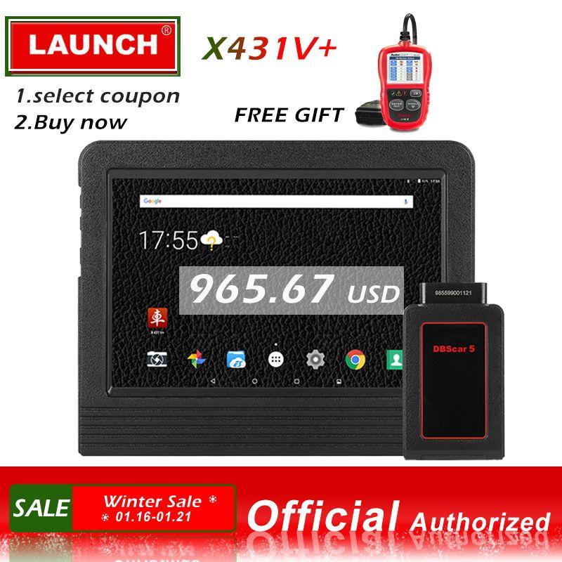 Launch X431 V + Automotive Diagnostic Tool Full System Diagnostics Scan Tools Car Scanner Autoscanner ECU Coding X 431 V Plus