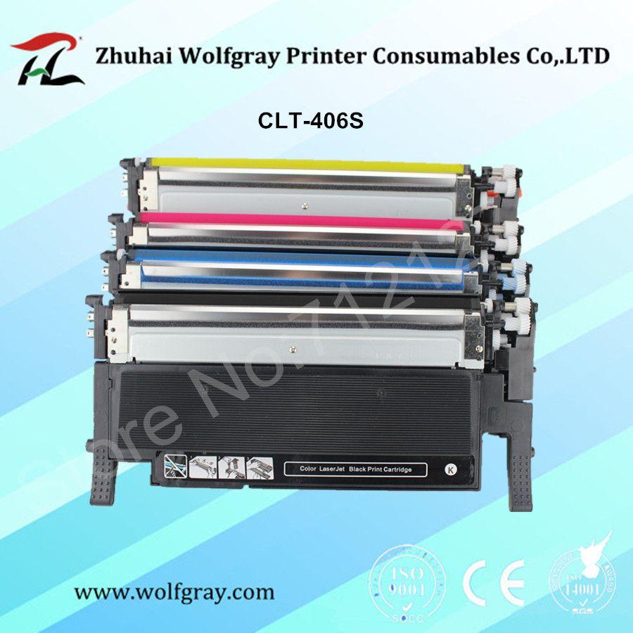 Compatible toner cartridge for samsung 406s k406 k406s CLT-406S CLT-K406S C406S Y406S C360 clp-365w 366W CLX-3305 C460FW 3306FN