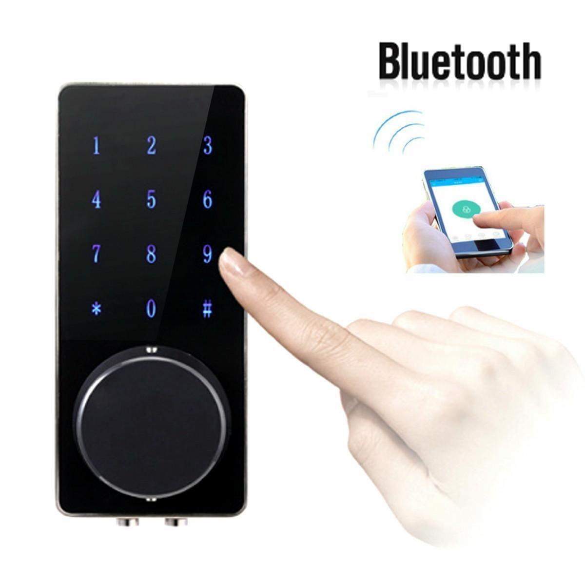 Serrure Bluetooth de serrure de porte sans fil de téléphone intelligent avec le mot de passe d'écran tactile