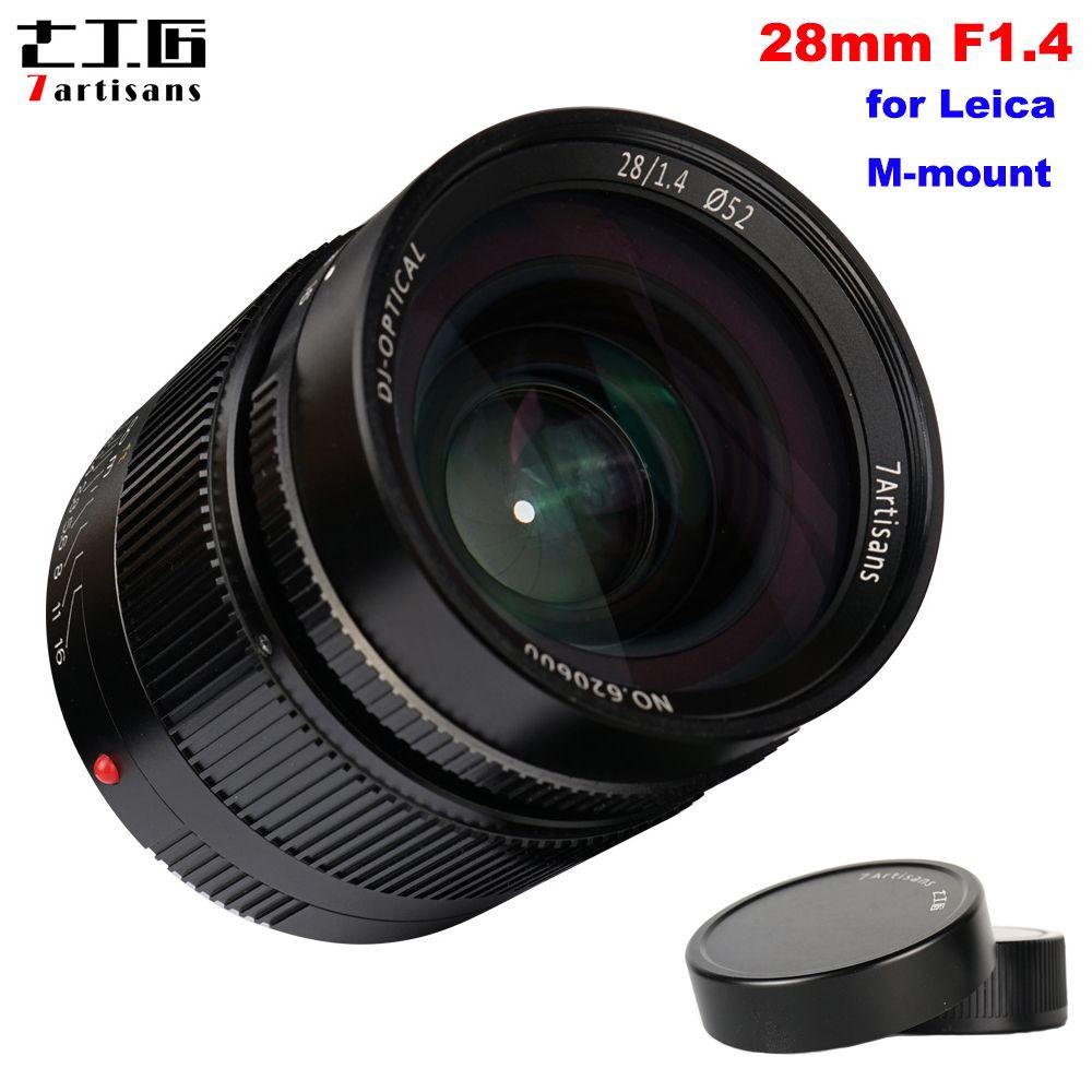 7 handwerker 28mm F1.4 Große Blende Paraxial Volle Rahmen Manuelle Festen Objektiv für Leica M-mount Kameras M3 m6 M7 M8 M9 M9P M10 M240