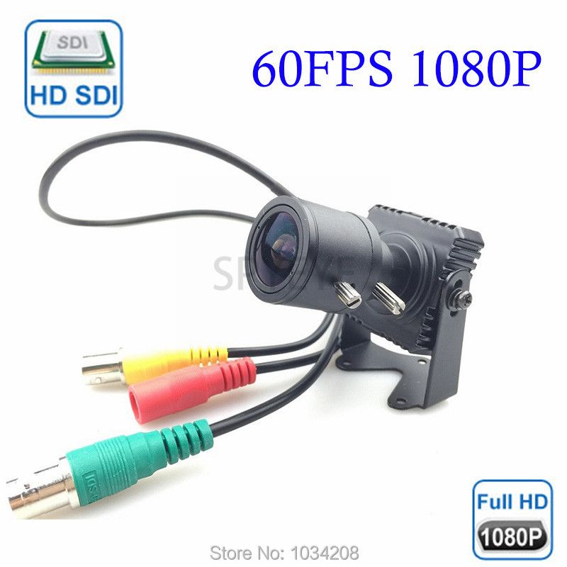 2.8-12mm Varifocal Lens Square 2.1MP 1080P Full HD SDI Security Camera Mini CCTV BOX Cameras WDR OSD For SDI DVR 60FPS