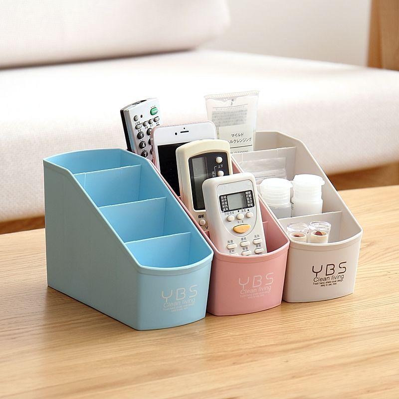 Boîte de rangement maquillage organisateur bureau grande capacité multi-fonctionnelle cosmétiques réception bijoux boîte en plastique organisateur de stockage