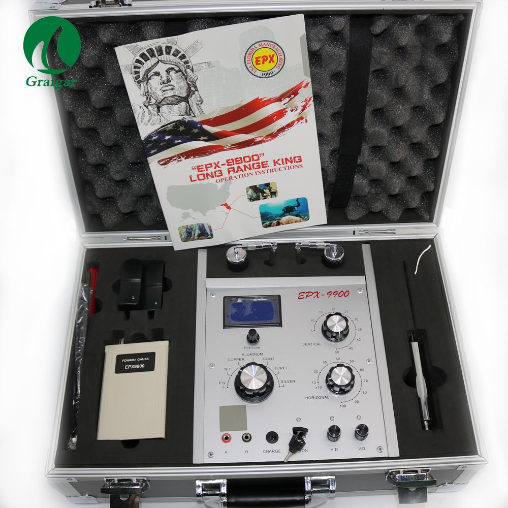 EPX9900 Metal and Treasure Detector Long Rang for Gold Silver Copper P.G Tin Aluminum and Jewel EPX-9900 EPX 9900 Gold Finder