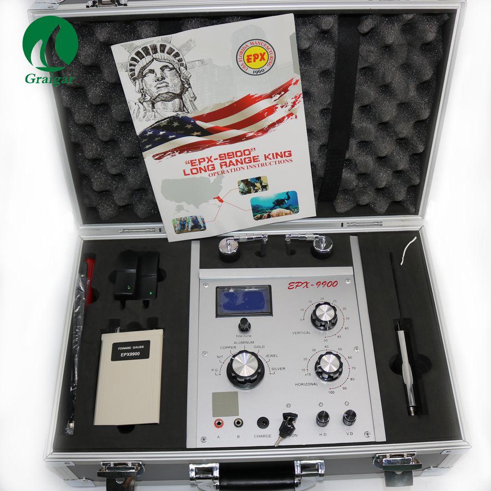 EPX9900 Metall und Schatz Detektor Lange Klingelte für Gold Silber Kupfer P.G Zinn Aluminium und Jewel EPX-9900 EPX 9900 Gold finder