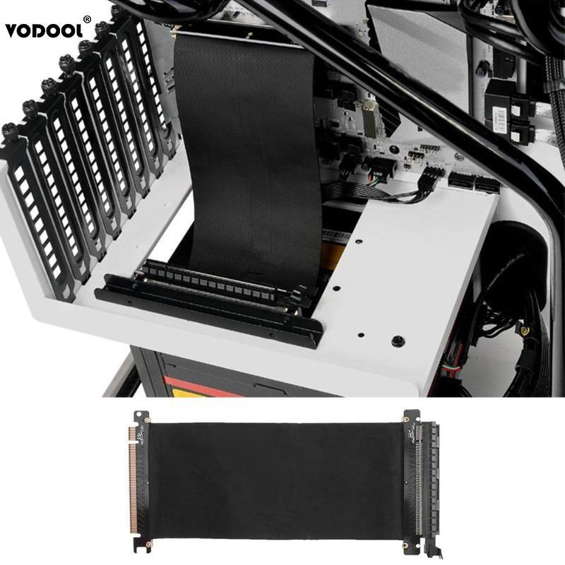 Carte graphique PC haute vitesse VODOOL 24cm connecteur PCI Express carte Riser PCI-E 16X adaptateur de Port d'extension de câble Flexible