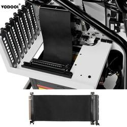 VODOOL 24 cm High Speed PC Grafikkarten PCI Express Stecker Kabel Riser Karte PCI-E 16X Flexible Kabel Verlängerung Port adapter