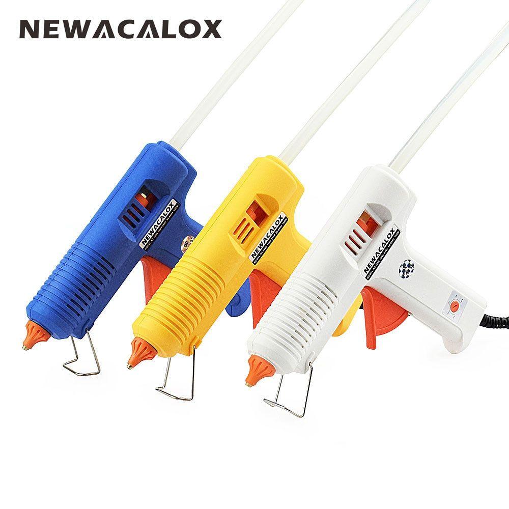 NEWACALOX 150W EU DIY Hot Melt Glue Gun 11mm Adhesive Stick Industrial <font><b>Electric</b></font> Silicone Guns Thermo Gluegun Repair Heat Tools