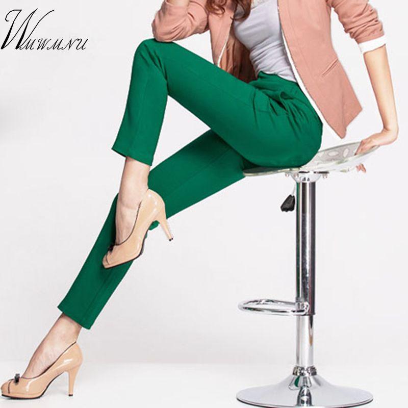 2018 nouveau décontracté OL bureau crayon pantalon filles mignon 12 couleur Slim Stretch pantalon mode bonbons Jeans crayon pantalon