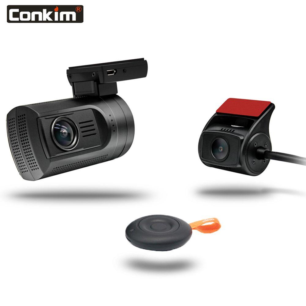 Conkim Dash Cam Mini 0906 Auto DVR Mit 2 Kameras GPS Video Recorder Kanzler Pro Kondensator Dual Objektiv Auto Kamera dashcam + 32G TF