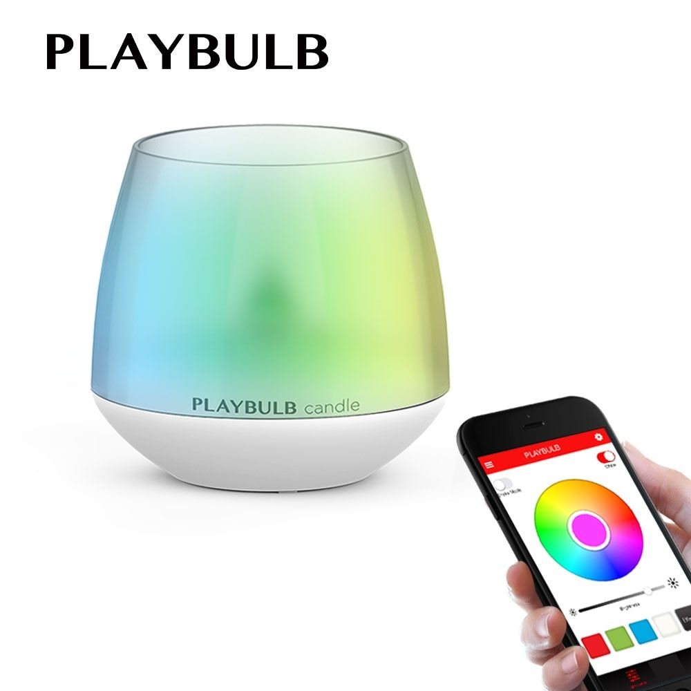 PLAYBULB Electric Candle LED Changeable Color RGB Romantic Tea light Flashlight Colored Glitter battery operated Candles Holder
