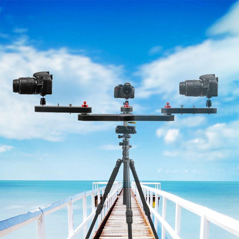 Professional mini lightweight portable 4 times distance video slider DSLR Camera slider for photography