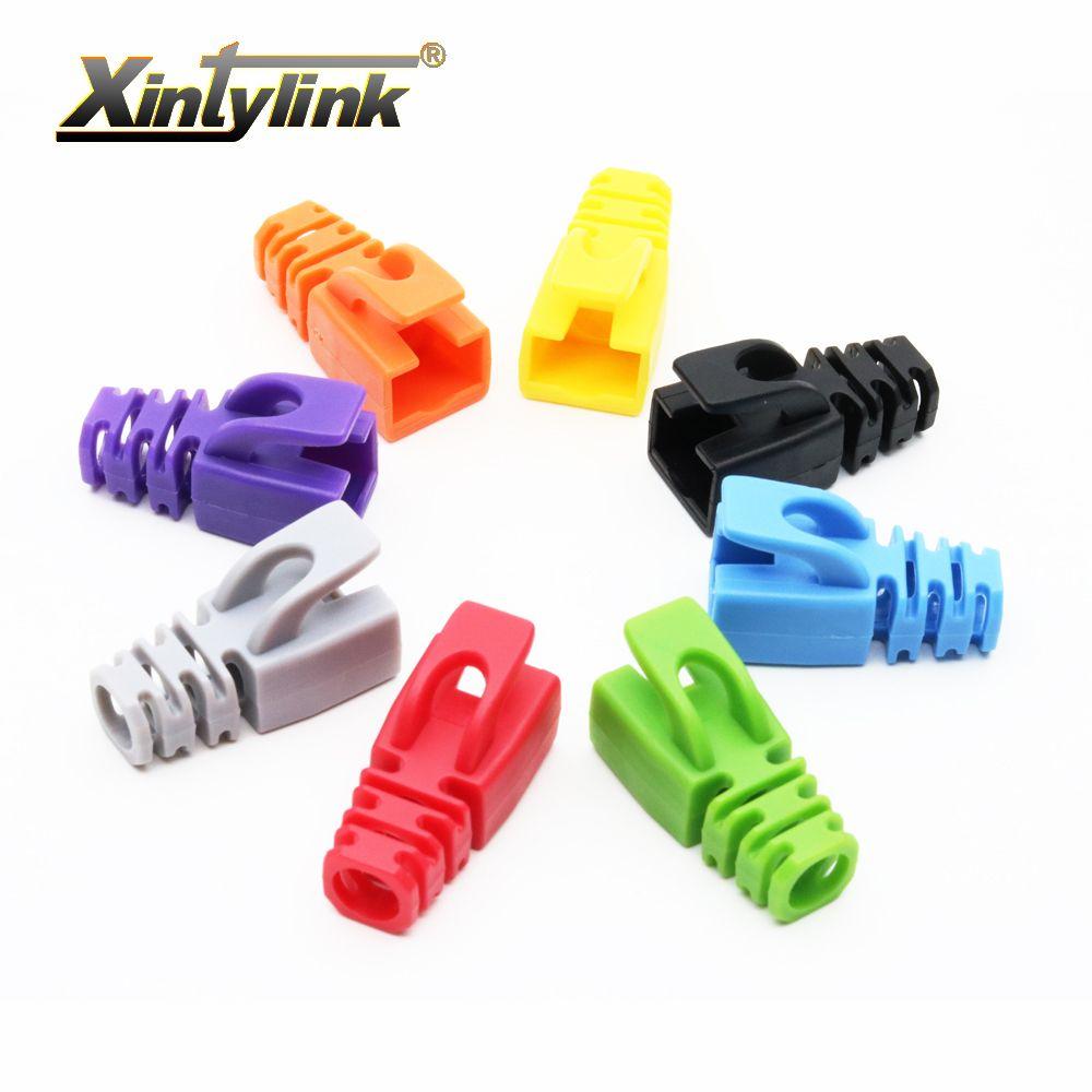 xintylink rj45 caps cat6 cat5e connector boots sheath 8p8c cat 6 protective sleeve rj 45 cat5 ethernet cable network multicolour