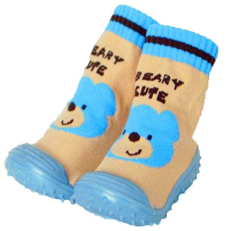 Хлопок Обувь для младенцев Носки для девочек для новорожденных Нескользящие Детские носки с резиновой подошвой для малышей Домашние носки ...