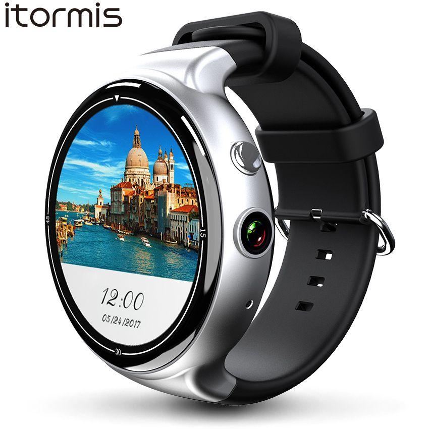 ITORMIS Android 5.1 Smart Watch Smartwatch Wristwatch MTK6580 16G ROM 2G RAM 3G SIM WiFi Sport Fitness 2MP Camera GPS Heart Rate