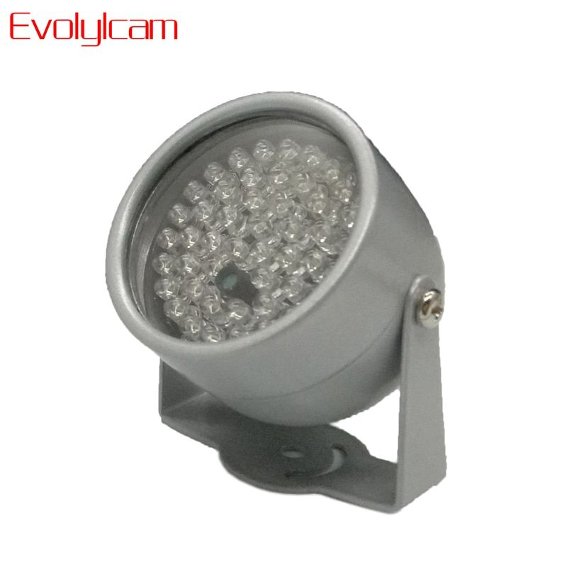 Evolylcam 850nm 48 IR LED illuminateur infrarouge lumière IR Vision nocturne pour caméras de sécurité CCTV remplir éclairage métal gris dôme