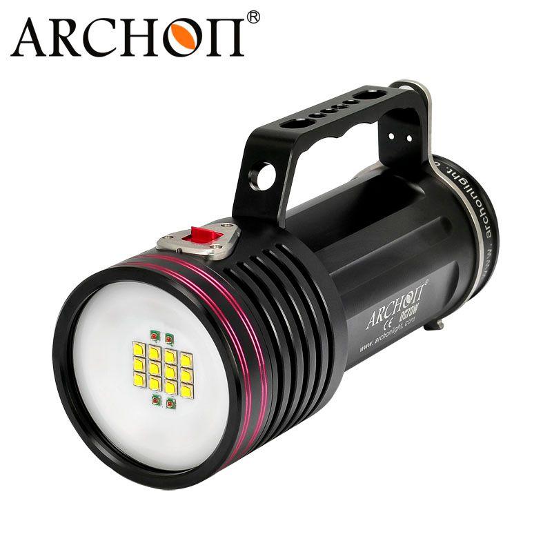 ARCHON D100W-II CREE XM-L2 U2 10000 Lumen LED Tauchen Taschenlampe Wasserdichte Tauchen Taschenlampe mit Akku und Lade